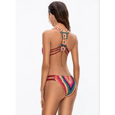 Print High Cut Strap Sexy One-piece Swimsuits
