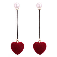 Exquisite Imitation Pearls Copper With Imitation Pearl Women's Fashion Earrings (Set of 2)