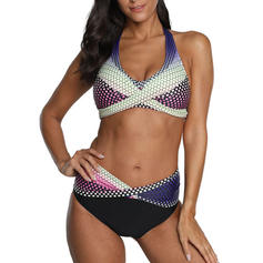 Vita Bassa Patchwork A bikini Occhi-cattura Bikinis Costumi Da Bagno