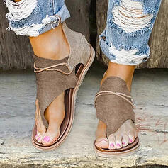 Femmes PU Talon plat Sandales À bout ouvert avec Zip chaussures