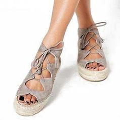 0003b4f4d20 γρηγορη ματια Γυναίκες PU Επίπεδη φτέρνα Σανδάλια Διαμερίσματα Με  Κέντημα-επάνω παπούτσια