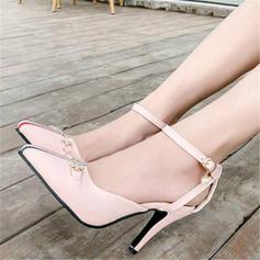 Femmes Cuir en microfibre Talon stiletto Sandales Escarpins Bout fermé avec Autres chaussures