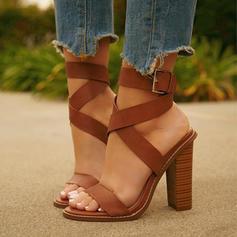 Femmes PU Talon bottier Sandales Escarpins À bout ouvert avec Autres chaussures