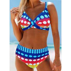 Nop Hoge Taille Riem Boheems Aantrekkelijk Grote maat Bikini's Badpakken