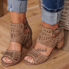 De mujer PU Tacón stilettos Sandalias Salón con Agujereado zapatos