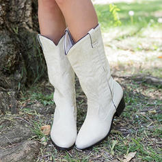 Women's PU Chunky Heel Mid-Calf Boots Snow Boots With Others shoes