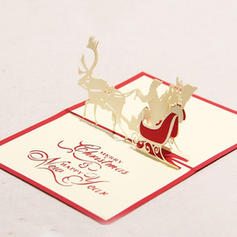 Merry Christmas Santa 3D With Envelope Card Paper Greeting Cards Postcards Invitations