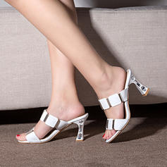 Women's Leatherette Stiletto Heel Sandals Pumps Peep Toe Slingbacks With Rhinestone shoes