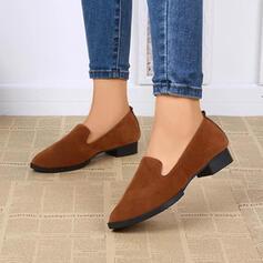 De mujer Ante Tacón ancho Planos Dedo del pie puntiagudo zapatos