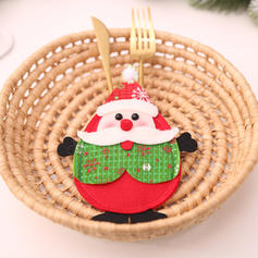 Merry Christmas Snowman Reindeer Non-Woven Fabric Tableware Cover