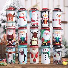 joyeux Noël Bonhomme de neige Renne Père Noël Métal Bonbonnières