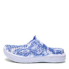 Frauen PVC Flascher Absatz Flache Schuhe mit Hohl-out Schuhe