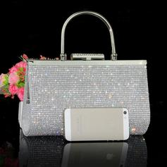 Charming Crystal/ Rhinestone/Polyester Clutches/Wristlets