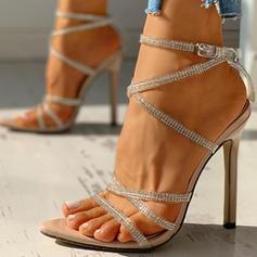 Жіночі ПВХ Шпилька Сандалі Насоси взуття на короткій шпильці з Пряжка взуття