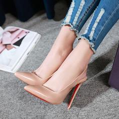 Mulheres Couro Salto agulha Sandálias com Faixa Elástica sapatos