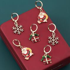 Shining Joulu Christmas santa Metalliseos jossa Strassit Korvakoruja 6 kpl