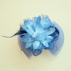 Ladies' Beautiful Net Yarn/Silk Flower Fascinators