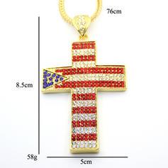 Moda Aleación Diamantes de imitación con Rhinestone Unisex Collar de la manera