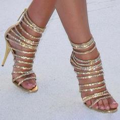 Women's Leatherette Stiletto Heel Peep Toe Pumps