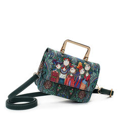 Vintga/Floral Satchel/Shoulder Bags