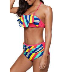 Rayures Dos Nu Sexy Grande taille Bikinis Maillots De Bain