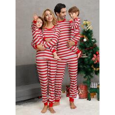 Striped Family Matching Christmas Pajamas