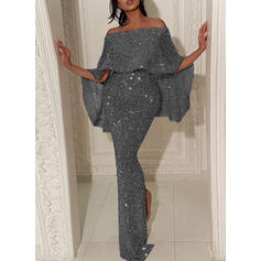 Sequins/Solid 1/2 Sleeves Bodycon Party/Elegant Maxi Dresses
