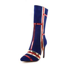 Femmes Similicuir Talon stiletto Bottes chaussures