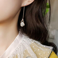 Beautiful Alloy Plastic Earrings (Set of 2)