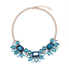 Fashionable Alloy Glass Women's Fashion Necklace
