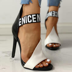 Dla kobiet PU Obcas Stiletto Sandały Otwarty Nosek Buta obuwie