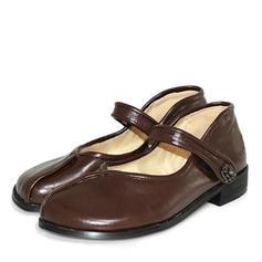 Women's PU Flat Heel Flats With Velcro shoes