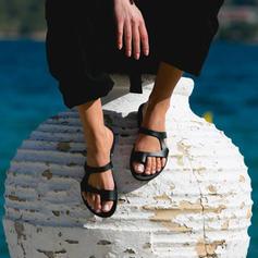 Dla kobiet PU Płaski Obcas Sandały Plaskie Otwarty Nosek Buta Z Pozostałe obuwie