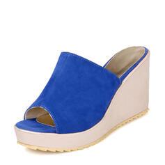 De mujer Ante Tipo de tacón Sandalias Cuñas Pantuflas con Otros zapatos