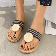 Femmes PU Talon plat Sandales Tongs Chaussons avec Paillette chaussures