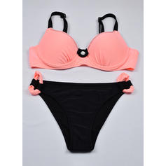 Low Waist Splice color Top Strap Sexy Fashionable Bikinis Swimsuits