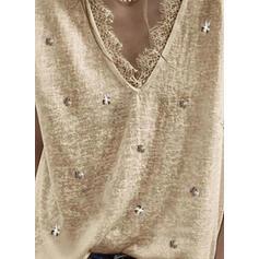 Solid Blonder V-hals Kortermer T-skjorter