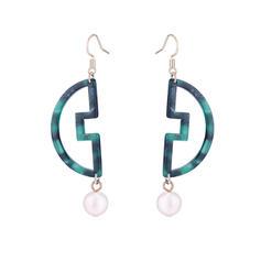 Simple Alloy Acrylic Women's Fashion Earrings
