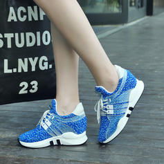 Pentru Femei Ţesătură Casual Afară Drumeţie cu Lace-up pantofi