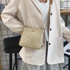 Unique/Stripe/Braided Straw Crossbody Bags/Shoulder Bags/Beach Bags