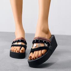 Mulheres EVA Outros Peep toe Chinelos com Lantejoulas sapatos