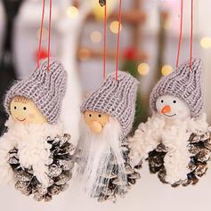 Тканина Різдвяна кулон Лялька Різдвяний декор Набір з 3