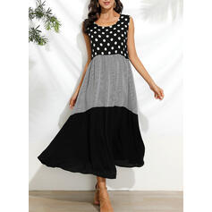 Print/PolkaDot Sleeveless Shift Casual/Vacation Maxi Dresses