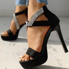 Жіночі ПУ Шпилька Сандалі Насоси взуття на короткій шпильці з Блискавка взуття