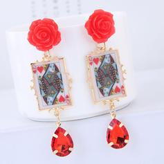 Flower Shaped Alloy Resin Women's Fashion Earrings (Set of 2)