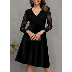 Lace Long Sleeves A-line Midi Casual/Party Dresses