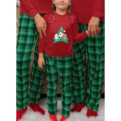 Père Noël Renne Plaid Tenue Familiale Assortie Pyjama De Noël