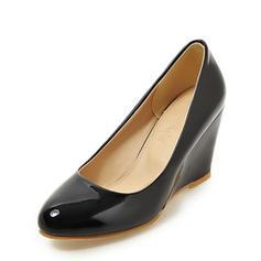 Femmes Cuir verni Talon compensé Compensée avec Autres chaussures