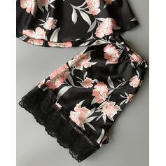 V-hals Mouwloos In de mode Elegant Cami en korte sets