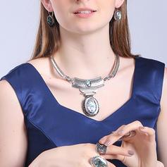 Schöne Modisch Exotisch Legierung Türkis Unisex Halsketten